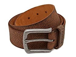 Breakbounce Men's Leather Belt (8907066079570_Large_Yellow)