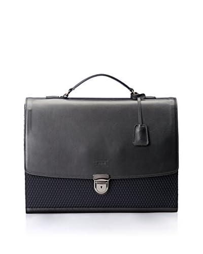 Emporio Armani Men's Leather Laptop/Briefcase, Nero