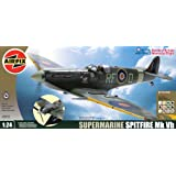 Airfix A50055 1:24 Scale Battle of Britain Memorial Flight Supermarine Spitfire MkVb WWII Aircraft Gift Set with Paints, Glue and Brushesby Airfix Military Aircraft