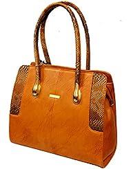 AYS Brown Colour Faux Leather Women's Office Handbag Shoulder Bag Wallets - B01IKLW2QK