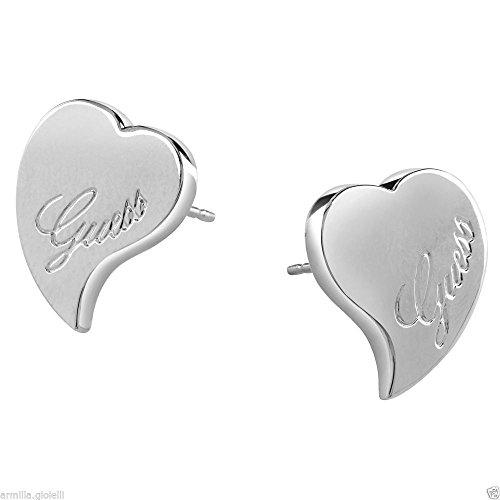 orecchini guess cuore con logo