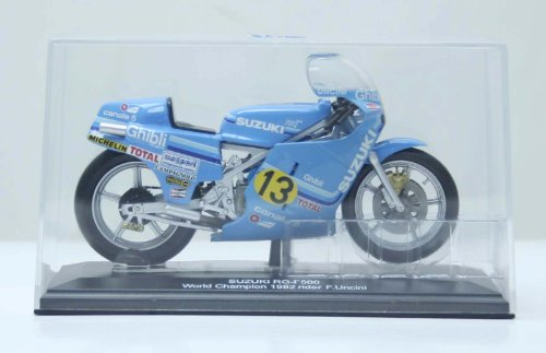 *45053 NEW 1:22 Motor Cycle model motorcycle SUZUKI RG World Champion 1982 (rider F. Uncini) Diecast Model In Box - 1