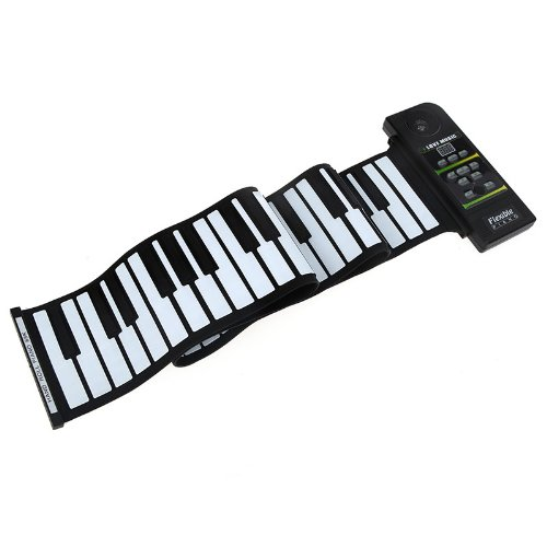 Docooler 88 Key Electronic Piano Keyboard Silicon Flexible Roll Up Piano With Loud Speaker