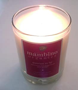 Mambino organics sunrise in fiji delicious red grapefruit and ginger organic soy candle