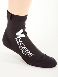 Sand Socks soft-soled snorkeling booties (youth/adult) Medium Black