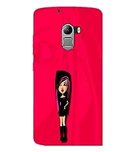 PrintDhaba Stylish Girl D-1088 Back Case Cover for LENOVO VIBE X3 LITE (Multi-Coloured)
