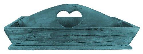 Deko Tablett Holz Modern Shabby Look Blau
