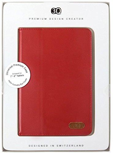 3Q Custodia Universale per Tablet 8 pollici a 7 pollici Novità maggio 2016 Porta Tablet Cover Universale Design Esclusivo Svizzero Cover Rosso