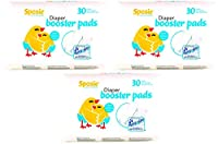 Sposie Booster Pads Diaper Doubler, 90 Count, 3 Packs of 30 Pads from Principle Business Enterprises