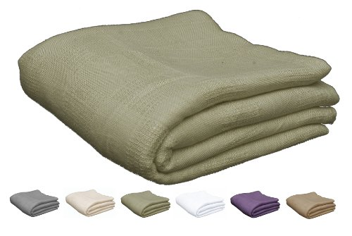 Read About Utopia Bedding Cotton Queen / Full Bed Blanket - Sage Green