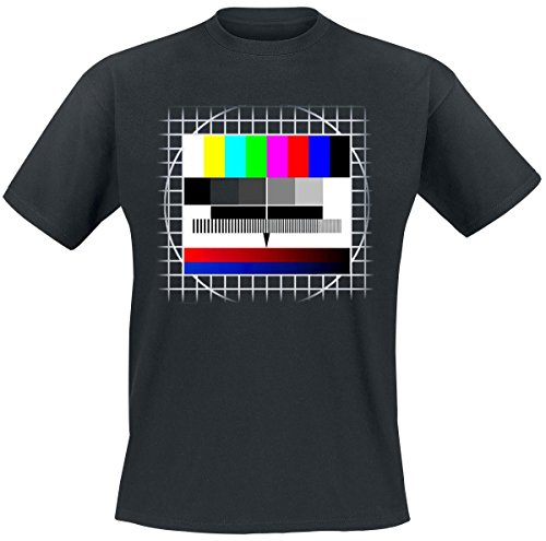 Sfondo Test TV T-Shirt nero L