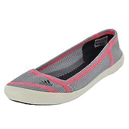 Adidas Boat Slip-On Sleek Shoe - Women\'s Mid Grey / Dark Grey / Flash Red 9