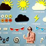 Michael Fish Retro Weather Fridge Mag...