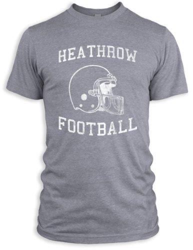 Vintage Distressed Heathrow Football Tri-Blend T-Shirt, Athletic Grey, L