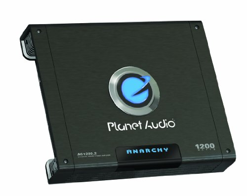 Planet Audio Ac1200.2 Anarchy 1200-Watts Full Range Class A/B 2 Channel 2 Ohm Stable Amplifier