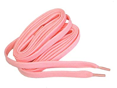 60 Inch 152 Cm Heavy Duty Baby Girl Light Pink Tube Style 10 Mm Wide Fashion Colored Boot Laces Shoelaces - 2 Pair Pack