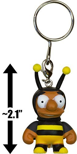 "Bumblebee Man ~2.1"" Mini-Figure Keychain: The Simpsons x Kidrobot 3D Vinyl Keychain Series [RARE] - 1"