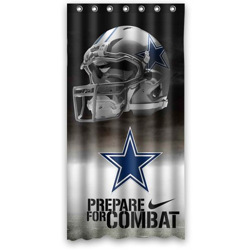 """Dallas-Cowboys Prepare For Combat Shower Curtain Standard Inch Size 36""""(W) X 72""""(H) front-926984"""