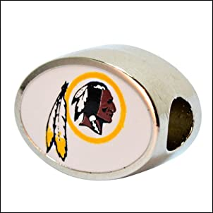Washington Redskins Charm Bead Fits Most Pandora Style Bracelets Including Pandora Chamilia Biagi Zable Troll and More