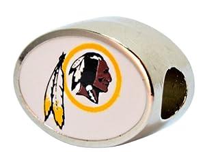 Washington Redskins Bead Fits Most Pandora Style Bracelets Like Pandora, Chamilia,... by Final Touch Gifts