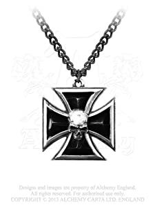 Black Knight's Cross Pendant by Alchemy Gothic, England [Jewelry]