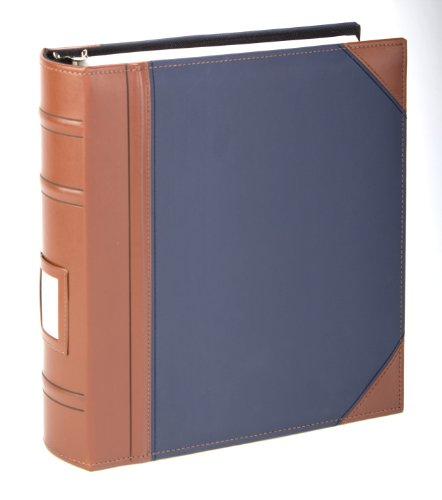 Executive Binder, English Leather 2 Tone With Stitching