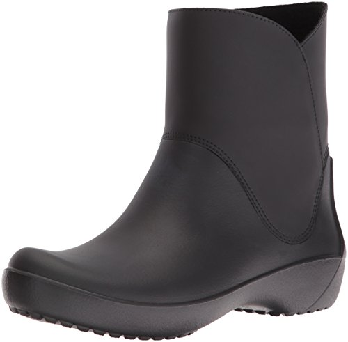 crocs Women's Rain Floe Boot, Black, 11 M US (Rain Shoes For Women Size 11 compare prices)