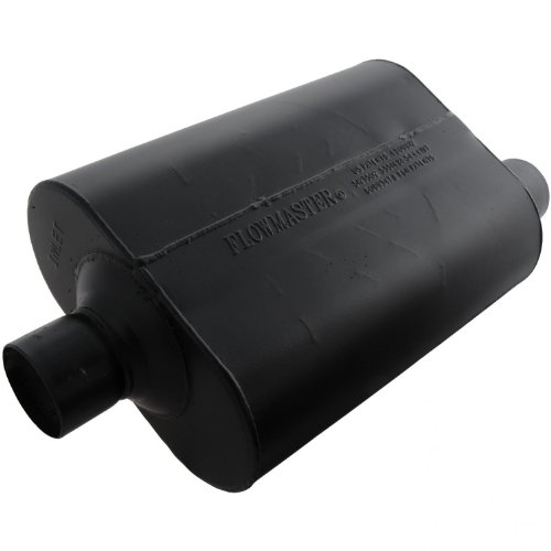 Flowmaster 952547 Super 40 Muffler - 2.50 Center IN / 2.50 Offset OUT - Aggressive Sound 1500 Flowmaster Muffler