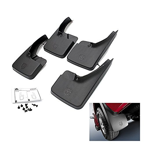 Dogdge RAM 1500 2500 3500 - Deluxe Thermoplastic Molded Splash Mud Guards Mud Flaps - Front & Rear (4pcs) for 2009-2016 Dogdge RAM 1500 2500 3500 (Mud Guards For Dodge Ram 2500 compare prices)