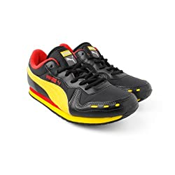 Puma Unisex Cabana Racer Jr Ind. Black, Dandelion and Hi Risk Red Sports Shoes - 11C UK