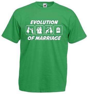 Men's Evolution Of Marriage T-Shirt (S, Green)