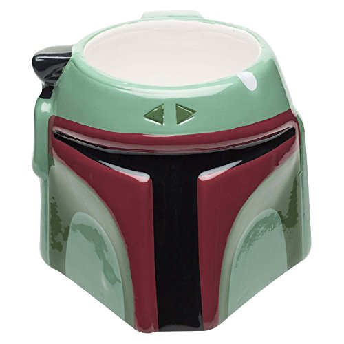 Zak! Designs Sculpted Ceramic Mug in Shape of Classic Boba Fett, BPA-free, Star Wars Collectible