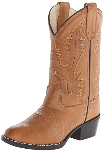 Old West Boys' Corona Calfskin Cowboy Boot Round Toe