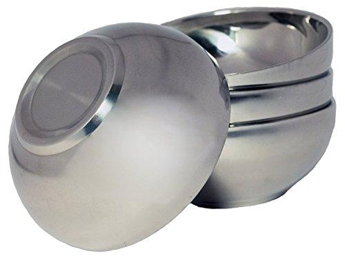 TukTek Set of 4 Stainless Steel Snack Bowls - 4.6