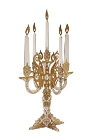 TALKING TABLES PARTY PORCELAIN GOLD 2-Pack Candelabra