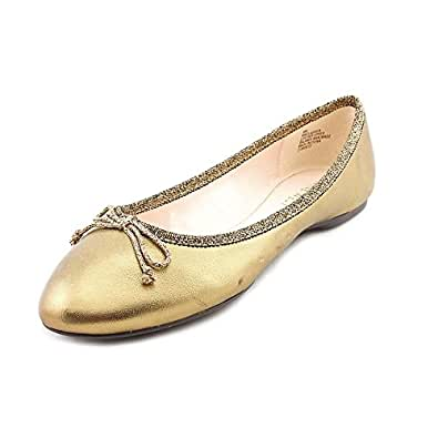 Nine West Classica Womens Size 6 Bronze Leather Flats Shoes