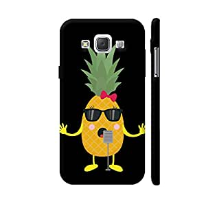Colorpur Singing Pineapple Designer Mobile Phone Case Back Cover For Samsung Galaxy E5 | Artist: Torben