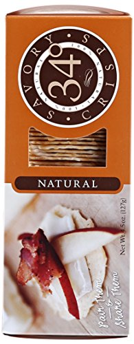 34 Degrees Natural Crispbread, 4.5-Ounce Boxes