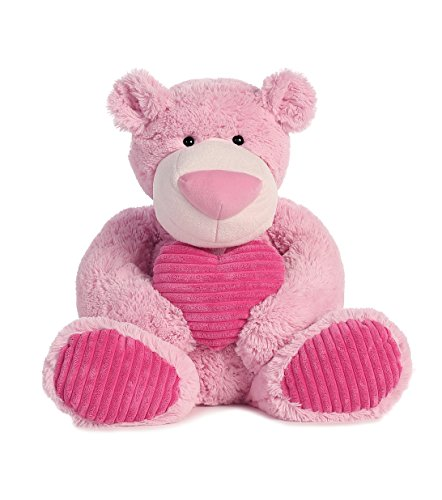 Aurora-World-Large-Strawberry-Latte-Bear-with-Pink-Heart-Plush