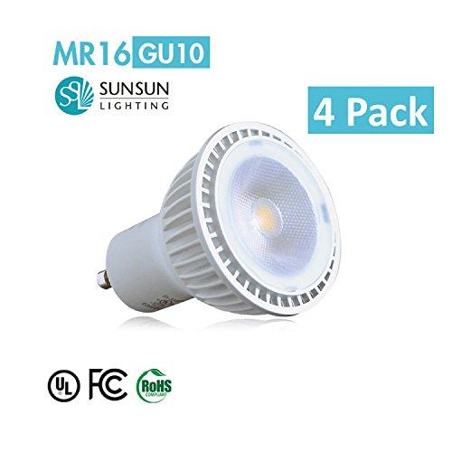 4 Pkg. Of Sunsun Lighting Si-Xmr16Gu10D07-27Sv/36 Mr 16 Gu10 Base Led Dimmable Spot Light, Soft White