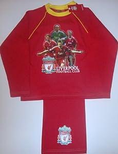 Liverpool Fc Players Long Pyjamas 5-6 Years by ThePyjamaFactory