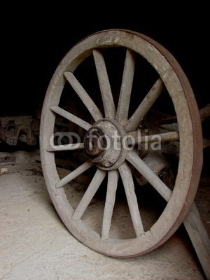 Wallmonkeys Peel and Stick Wall Decals - Wagon Wheel - 24