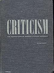 Criticism : the foundations of modern…