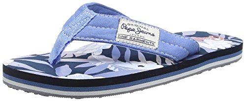 Pepe Jeans Magic Flowers, Infradito da Bambini e Ragazzi, Colore Blu (Sailor/580), Taglia 4 UK (37 EU)