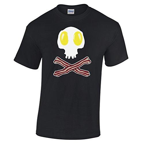 Bacon-and-Eggs-Skull-Cross-Bones-Pirate-Flag-Funny-Jolly-Roger-Gift-Mens-T-Shirt