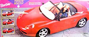 Barbie porsche boxster sports car with for Motorized barbie convertible car