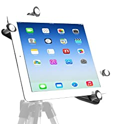 The New iPad 3rd Generation - iPad HD - iPad 3 Tripod Mount - G7 Pro By iShot Mounts - Adapter - Holder - Attachment - Long Lasting Sturdy Aluminum Frame - 1/4-20 Thread - Safely Mount Your iPad to a Tripod - Works with Most Cases Sleeves and Smart Covers (i-8846-G7-4003)