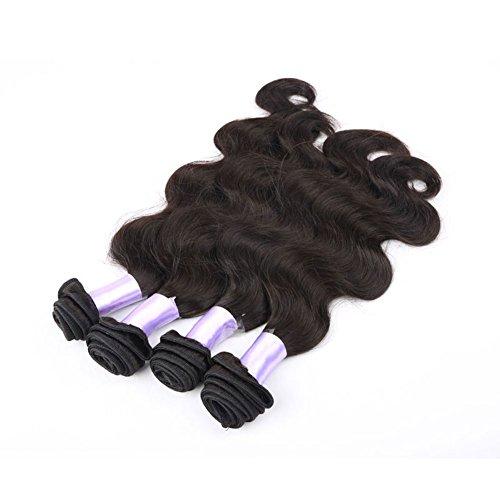 Grade 5a Mixed Length 4pcs/lot Human Hair Weave 100% Brazilian Virgin Hair Extensions Body Wave 4 Bundles 400g Total Free Shipping (12inch 14inch 16inch 18inch)