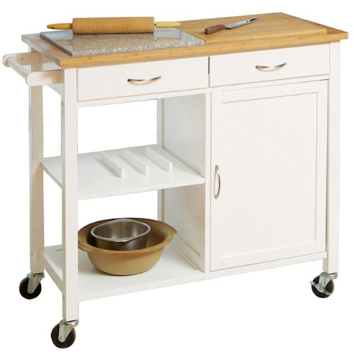 Image of Emerson Duel Top Kitchen Island (B0069VL8DW)