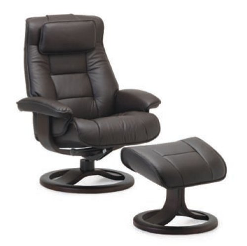 Fjords Mustang Large Leather Recliner and Ottoman Norwegian Ergonomic Scandinavian Reclining Chair in Nordic Line Genuine  sc 1 st  FurnitureNDecor.com & Fjords Mustang Large Leather Recliner and Ottoman - Norwegian ... islam-shia.org